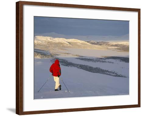 View Over Frozen Lake Furusjoen, Rondablikk, Norrway, Scandinavia-David Poole-Framed Art Print