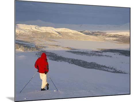View Over Frozen Lake Furusjoen, Rondablikk, Norrway, Scandinavia-David Poole-Mounted Photographic Print