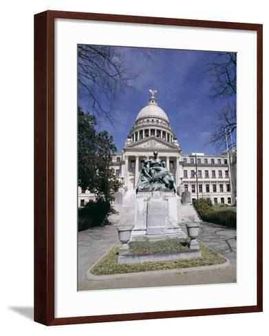 Confederate Women Monument Outside Mississippi State Capitol, Jackson, Mississippi, North America-Julian Pottage-Framed Art Print