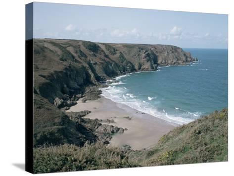 Plemont Bay from Clifftop, Greve Aulancon, Jersey, Channel Islands, United Kingdom-Julian Pottage-Stretched Canvas Print