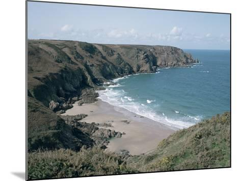 Plemont Bay from Clifftop, Greve Aulancon, Jersey, Channel Islands, United Kingdom-Julian Pottage-Mounted Photographic Print