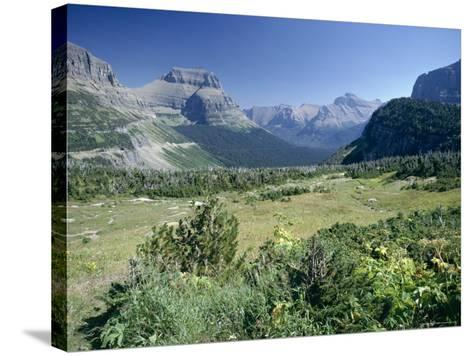 View East from Logan Pass, Glacier National Park, Montana, USA-Julian Pottage-Stretched Canvas Print