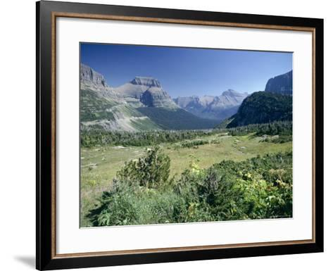 View East from Logan Pass, Glacier National Park, Montana, USA-Julian Pottage-Framed Art Print