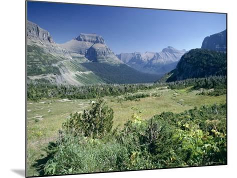 View East from Logan Pass, Glacier National Park, Montana, USA-Julian Pottage-Mounted Photographic Print