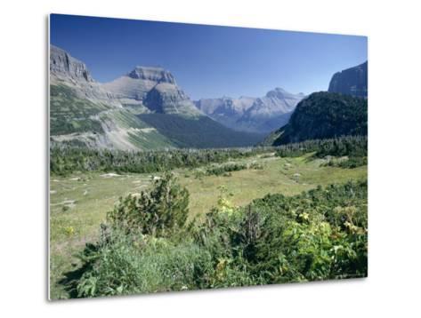 View East from Logan Pass, Glacier National Park, Montana, USA-Julian Pottage-Metal Print