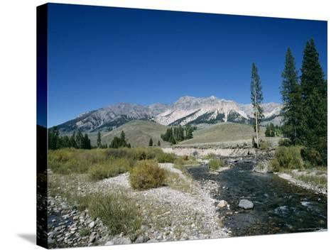 Wood River and Sawtooths, Sawtooth National Recreation Area, Idaho, USA-Julian Pottage-Stretched Canvas Print