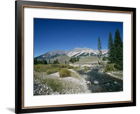 Wood River and Sawtooths, Sawtooth National Recreation Area, Idaho, USA-Julian Pottage-Framed Art Print