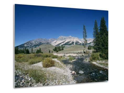 Wood River and Sawtooths, Sawtooth National Recreation Area, Idaho, USA-Julian Pottage-Metal Print