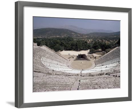 Restored Theatre, Epidaurus, Unesco World Heritage Site, Greece-Jack Jackson-Framed Art Print