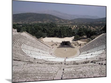 Restored Theatre, Epidaurus, Unesco World Heritage Site, Greece-Jack Jackson-Mounted Photographic Print