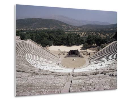 Restored Theatre, Epidaurus, Unesco World Heritage Site, Greece-Jack Jackson-Metal Print