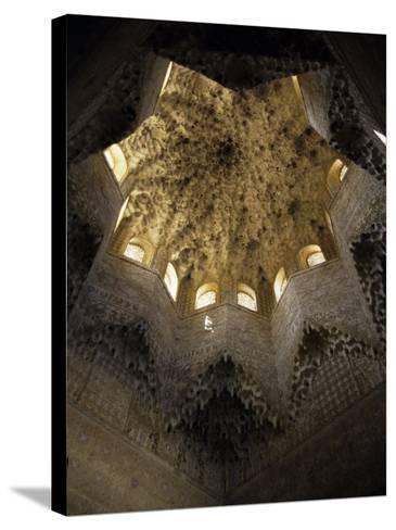 Moorish Ceiling, Alhambra Palace, Unesco World Heritage Site, Granada, Andalucia, Spain-Christopher Rennie-Stretched Canvas Print