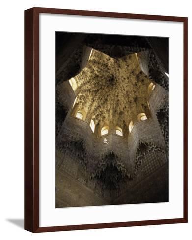 Moorish Ceiling, Alhambra Palace, Unesco World Heritage Site, Granada, Andalucia, Spain-Christopher Rennie-Framed Art Print