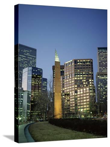 Civic Center Plaza Skyscrapers in the Evening, Denver, Colorado, USA-Christopher Rennie-Stretched Canvas Print