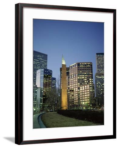 Civic Center Plaza Skyscrapers in the Evening, Denver, Colorado, USA-Christopher Rennie-Framed Art Print