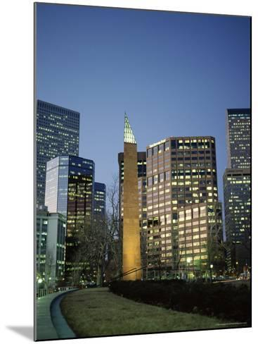 Civic Center Plaza Skyscrapers in the Evening, Denver, Colorado, USA-Christopher Rennie-Mounted Photographic Print
