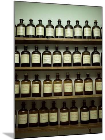 Shelves of Old Essence Bottles, Parfumerie Fragonard, Grasse, Alpes Maritimes, Provence, France-Christopher Rennie-Mounted Photographic Print