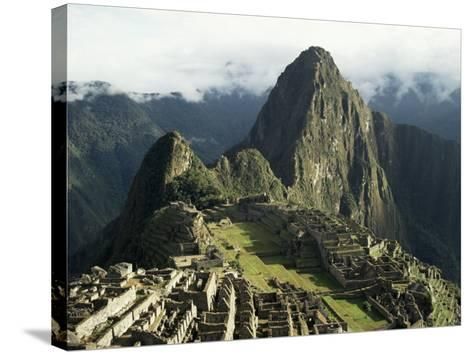 Lost City of the Incas at Dawn, Machu Picchu, Unesco World Heritage Site, Peru, South America-Christopher Rennie-Stretched Canvas Print