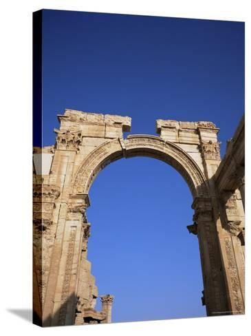 Roman Triumphal Arch, Dating from the 1st Century AD, Palmyra, Unesco World Heritage Site, Syria-Christopher Rennie-Stretched Canvas Print