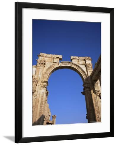 Roman Triumphal Arch, Dating from the 1st Century AD, Palmyra, Unesco World Heritage Site, Syria-Christopher Rennie-Framed Art Print