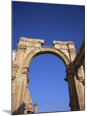 Roman Triumphal Arch, Dating from the 1st Century AD, Palmyra, Unesco World Heritage Site, Syria-Christopher Rennie-Mounted Photographic Print