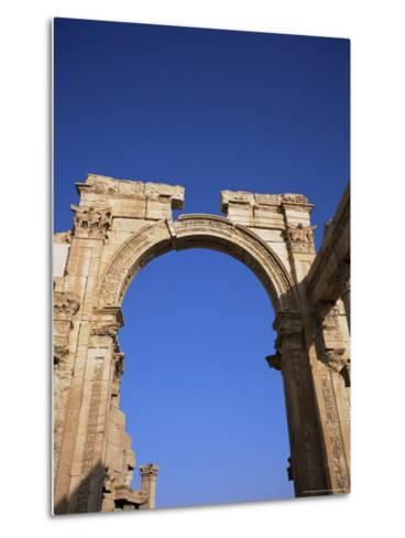 Roman Triumphal Arch, Dating from the 1st Century AD, Palmyra, Unesco World Heritage Site, Syria-Christopher Rennie-Metal Print