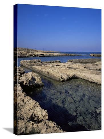 Rectangular Tanks Cut into Rock by Romans to Keep Fish Catch Fresh for Market, Near Lapta, Cyprus-Christopher Rennie-Stretched Canvas Print