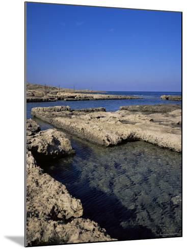 Rectangular Tanks Cut into Rock by Romans to Keep Fish Catch Fresh for Market, Near Lapta, Cyprus-Christopher Rennie-Mounted Photographic Print