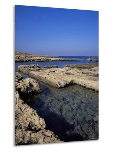 Rectangular Tanks Cut into Rock by Romans to Keep Fish Catch Fresh for Market, Near Lapta, Cyprus-Christopher Rennie-Metal Print