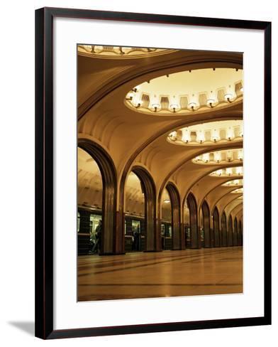 Mayakovskaya Metro Station, Moscow, Russia-Christopher Rennie-Framed Art Print