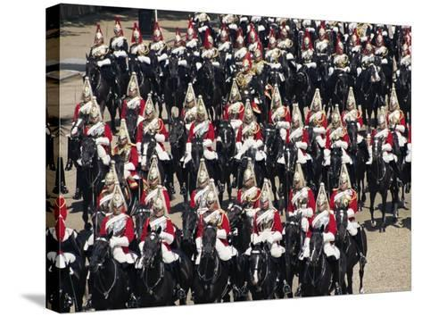 Horse Guards at Trooping the Colour, London, England, United Kingdom-Hans Peter Merten-Stretched Canvas Print