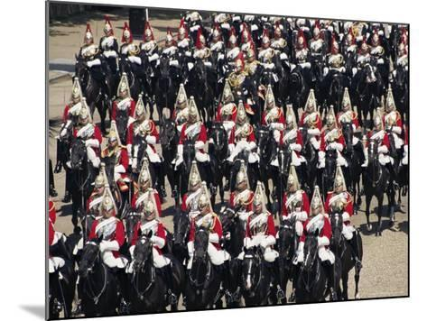 Horse Guards at Trooping the Colour, London, England, United Kingdom-Hans Peter Merten-Mounted Photographic Print