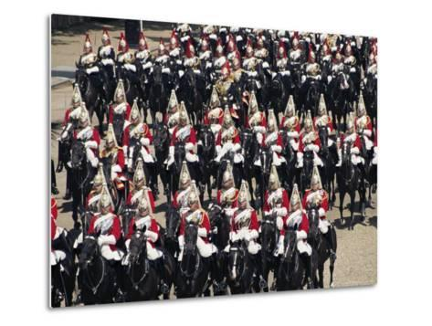 Horse Guards at Trooping the Colour, London, England, United Kingdom-Hans Peter Merten-Metal Print