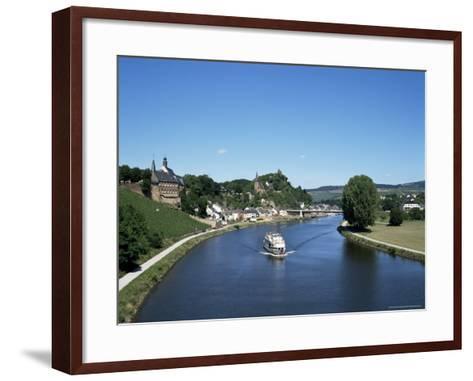 Old Town and River Saar, Saarburg, Rheinland-Pfalz (Rhineland Palatinate), Germany-Hans Peter Merten-Framed Art Print
