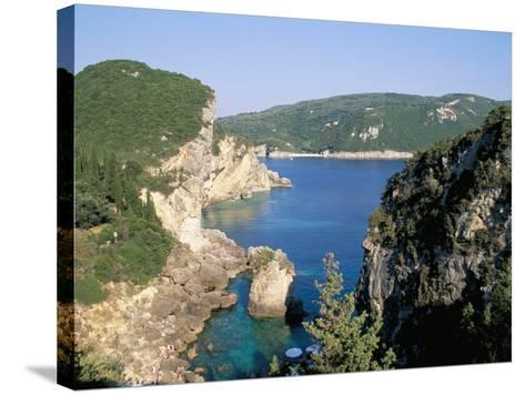 Paleokastritsa, Corfu, Greek Islands, Greece, Mediterranean-Hans Peter Merten-Stretched Canvas Print