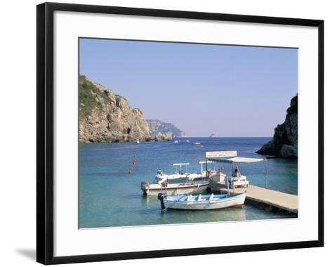 Paleokastritsa, Corfu, Greek Islands, Greece, Mediterranean-Hans Peter Merten-Framed Art Print