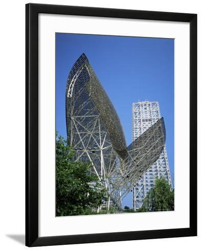 La Barceloneta and Hotel Art, Barcelona, Catalonia, Spain-Hans Peter Merten-Framed Art Print
