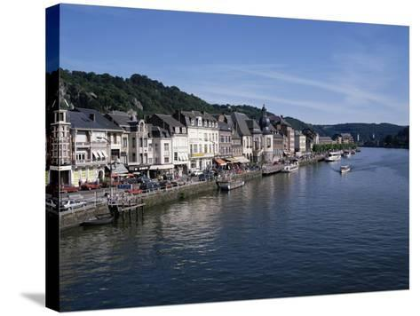 Old Town, Dinant, and River Meuse, Ardennes, Belgium-Hans Peter Merten-Stretched Canvas Print