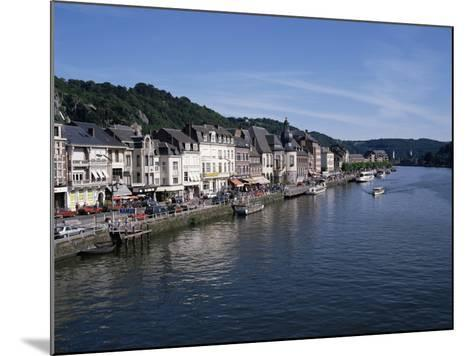 Old Town, Dinant, and River Meuse, Ardennes, Belgium-Hans Peter Merten-Mounted Photographic Print