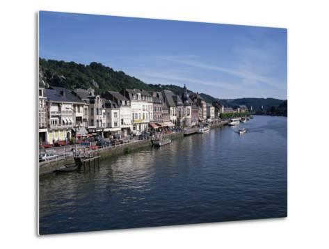Old Town, Dinant, and River Meuse, Ardennes, Belgium-Hans Peter Merten-Metal Print