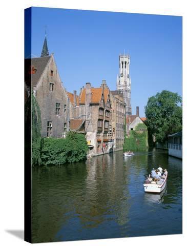 Rozenhoedkai and Belfried, Bruges (Brugge), Unesco World Heritage Site, Belgium-Hans Peter Merten-Stretched Canvas Print