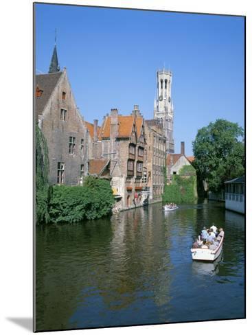 Rozenhoedkai and Belfried, Bruges (Brugge), Unesco World Heritage Site, Belgium-Hans Peter Merten-Mounted Photographic Print
