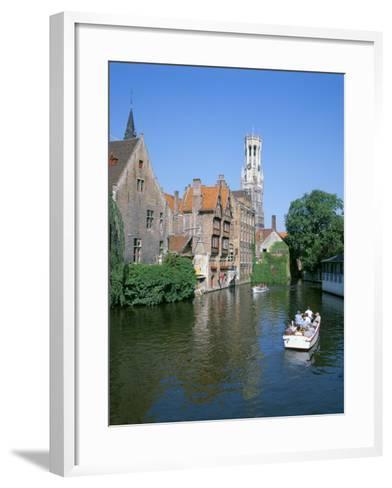 Rozenhoedkai and Belfried, Bruges (Brugge), Unesco World Heritage Site, Belgium-Hans Peter Merten-Framed Art Print