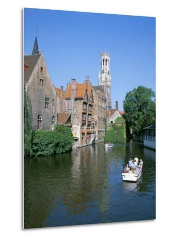 Rozenhoedkai and Belfried, Bruges (Brugge), Unesco World Heritage Site, Belgium-Hans Peter Merten-Metal Print