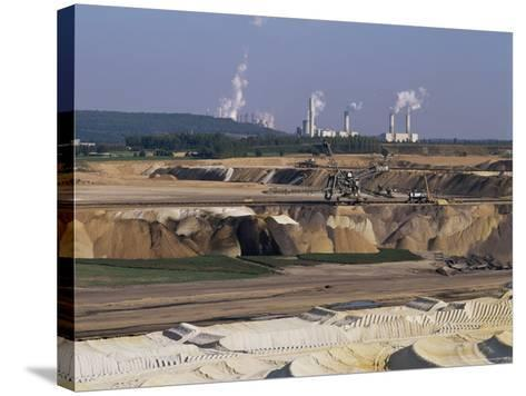 Brown Coal Mining, Bergheim, Near Cologne, Germany-Hans Peter Merten-Stretched Canvas Print
