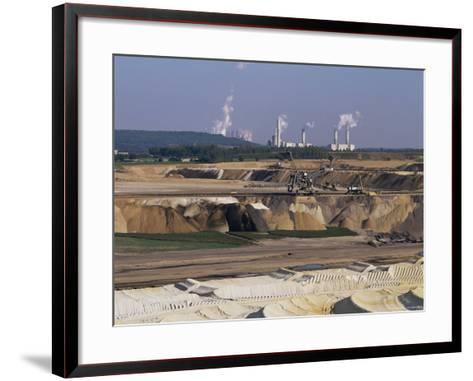 Brown Coal Mining, Bergheim, Near Cologne, Germany-Hans Peter Merten-Framed Art Print