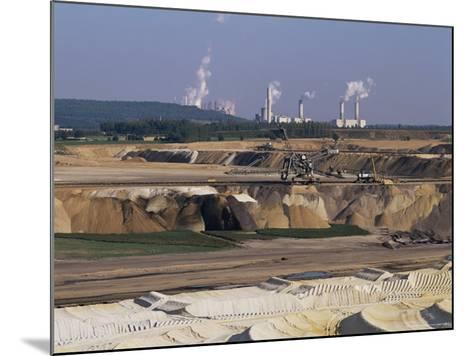 Brown Coal Mining, Bergheim, Near Cologne, Germany-Hans Peter Merten-Mounted Photographic Print
