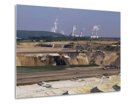 Brown Coal Mining, Bergheim, Near Cologne, Germany-Hans Peter Merten-Metal Print