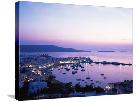 Evening View Over Mykonos, Cyclades, Greek Islands, Greece-Hans Peter Merten-Stretched Canvas Print