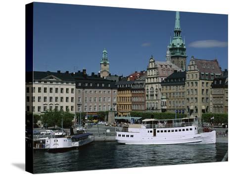Munkbroleden Waterfront, Gamla Stan (Old Town), Stockholm, Sweden, Scandinavia-Duncan Maxwell-Stretched Canvas Print